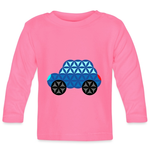 The Car Of Life - M01, Sacred Shapes, Blue/286 - Baby Long Sleeve T-Shirt