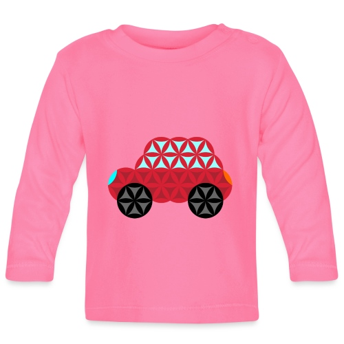 The Car Of Life - M01, Sacred Shapes, Red/186 - Baby Long Sleeve T-Shirt