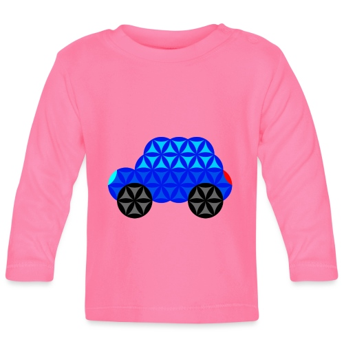 The Car Of Life - M01, Sacred Shapes, Blue/R01. - Baby Long Sleeve T-Shirt