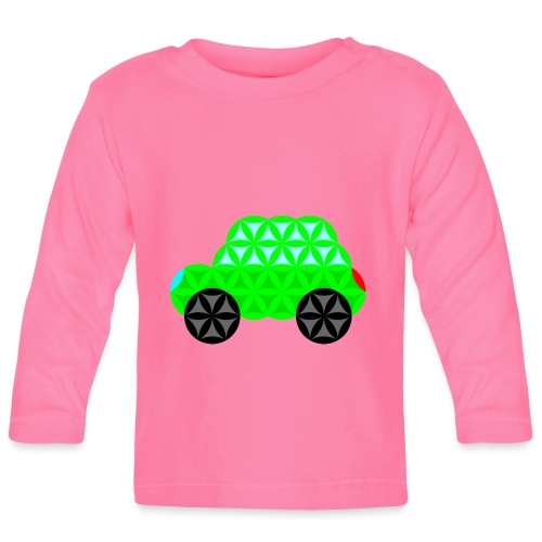 The Car Of Life - M01, Sacred Shapes, Green/R01. - Baby Long Sleeve T-Shirt