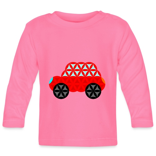 The Car Of Life - M01, Sacred Shapes, Red/R01. - Baby Long Sleeve T-Shirt