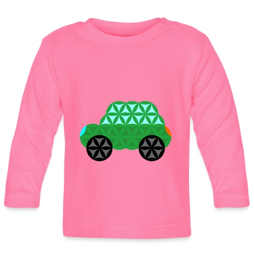 The Car Of Life - M01, Sacred Shapes, Green/363 - Baby Long Sleeve T-Shirt