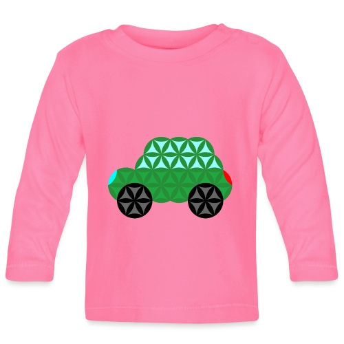 The Car Of Life - M02, Sacred Shapes, Green/363 - Baby Long Sleeve T-Shirt