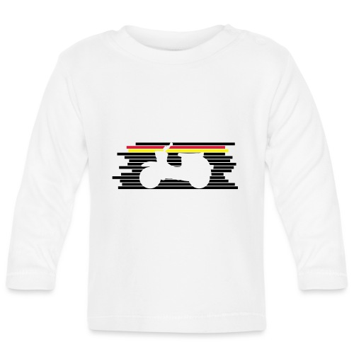 schwalbe streifen negativ - Baby Langarmshirt