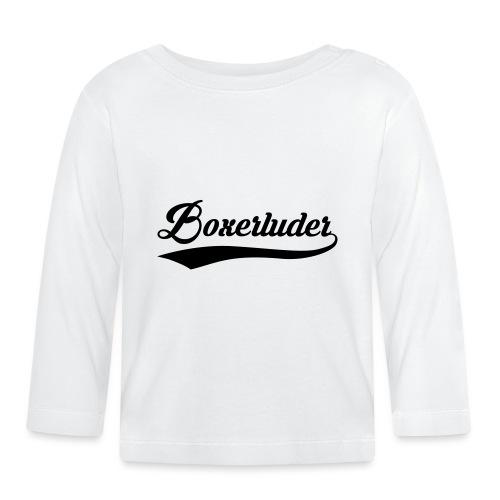 Motorrad Fahrer Shirt Boxerluder - Baby Langarmshirt
