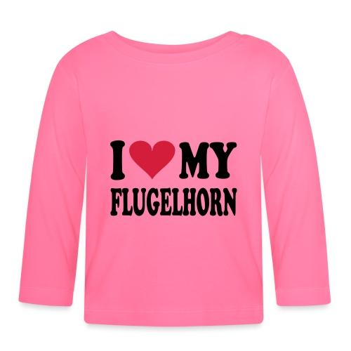 I LOVE MY FLUGELHORN - Langarmet baby-T-skjorte
