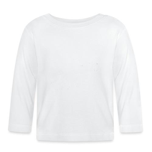 Valkoinen tekstilogo - Vauvan pitkähihainen paita