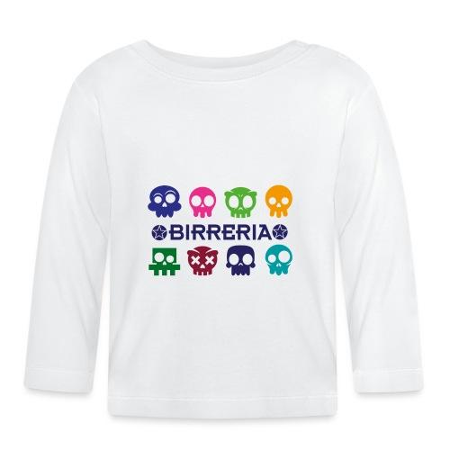 Kids color Skulls - Baby Langarmshirt
