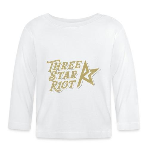 Three Star Riot logo väri - Vauvan pitkähihainen paita