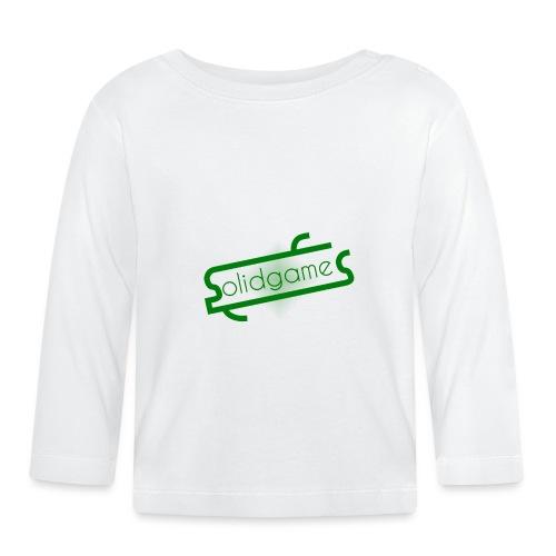 Solidgames Crewneck Grey - Baby Long Sleeve T-Shirt