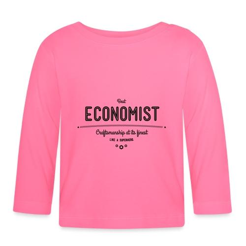 Bester Ökonom - wie ein Superheld - Baby Langarmshirt