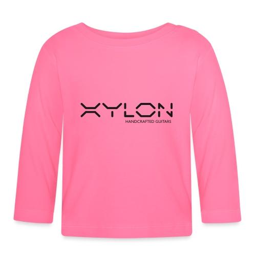 Xylon Handcrafted Guitars (plain logo in black) - Baby Long Sleeve T-Shirt