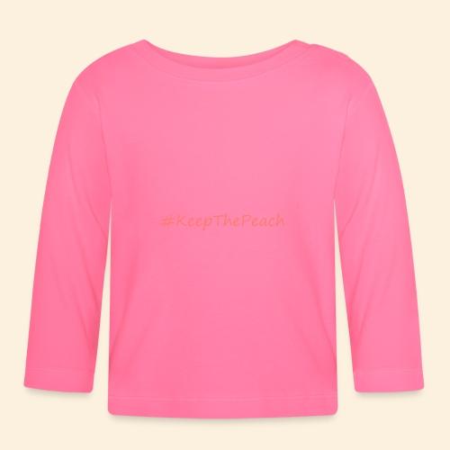 Hashtag KeepThePeach Corail - T-shirt manches longues Bébé