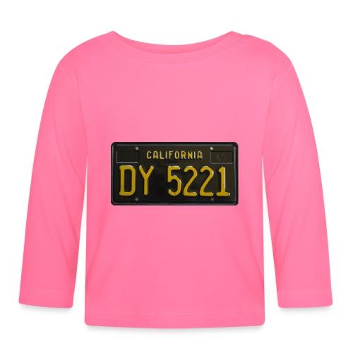 CALIFORNIA BLACK LICENCE PLATE - Baby Long Sleeve T-Shirt