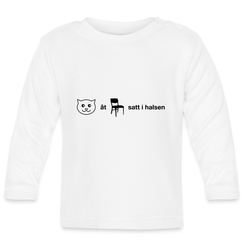 Katt åt stol - Långärmad T-shirt baby