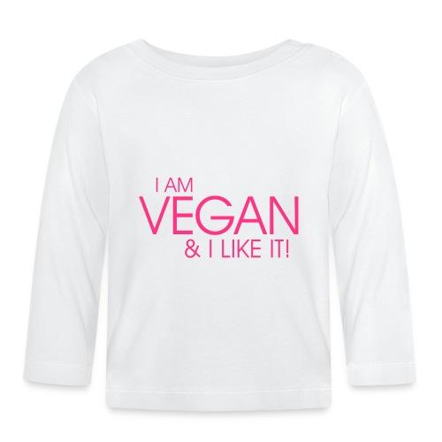 I am vegan and I like it - Baby Langarmshirt
