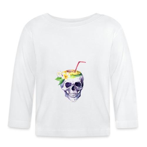 Totenkopf mit Strohhalm - Baby Langarmshirt