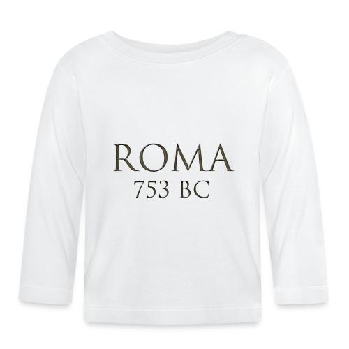 Nadruk Roma (Rzym) | Print Roma (Rome) - Koszulka niemowlęca z długim rękawem
