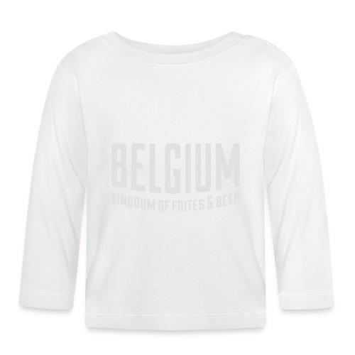 Belgium kingdom of frites & beer - T-shirt manches longues Bébé