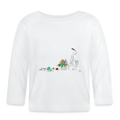 frukt og grønt handleveske - Langarmet baby-T-skjorte