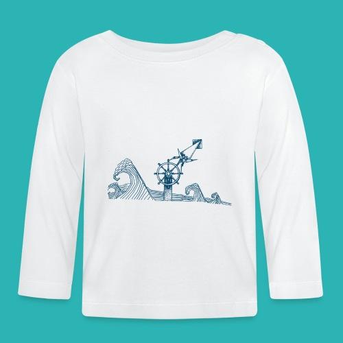Carta_timone_blu-png - Maglietta a manica lunga per bambini