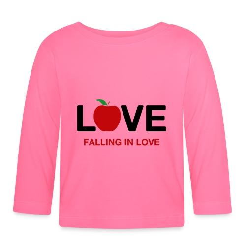 Falling in Love - Black - Baby Long Sleeve T-Shirt