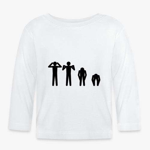 Hode, skulder, kne og tå - Langarmet baby-T-skjorte