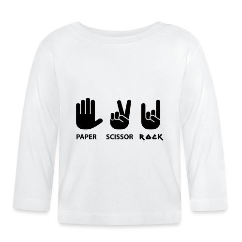 papier ciseaux roche c - T-shirt manches longues Bébé
