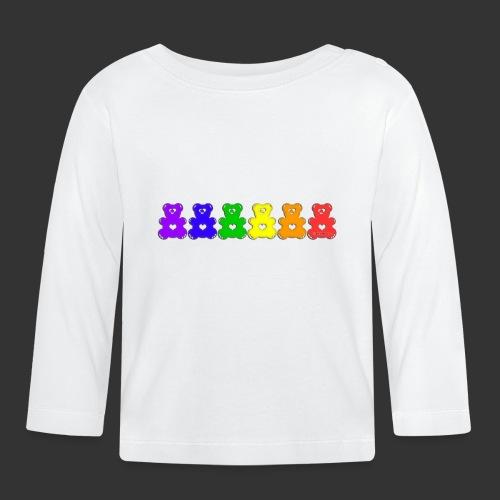 Bärenlust Regenbogen Bären-Reihe - Baby Langarmshirt