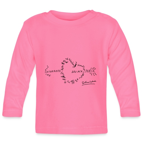 calligramme_fleche_saignante - T-shirt manches longues Bébé