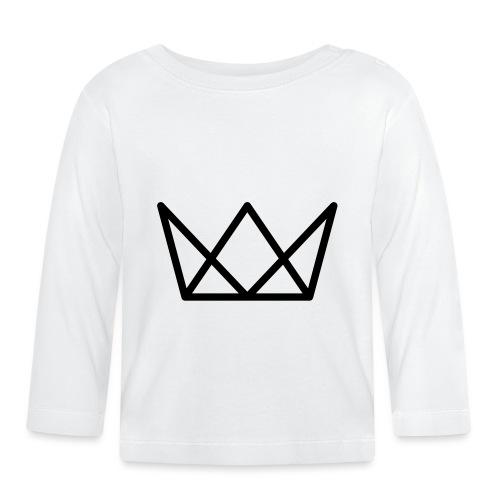 TKG Krone schwarz CMYK - Baby Langarmshirt
