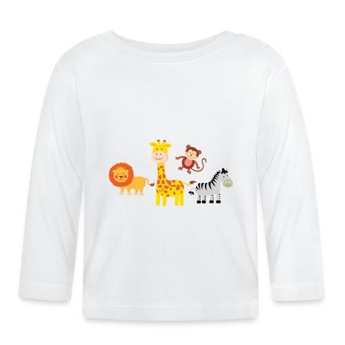 Safari - Djur - Långärmad T-shirt baby