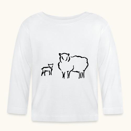 Schafzucht Lamm lustig Geschenkidee Familie Schafe - T-shirt manches longues Bébé