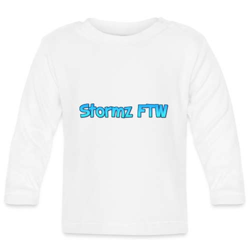 Stormz FTW blue and white fade - Baby Long Sleeve T-Shirt