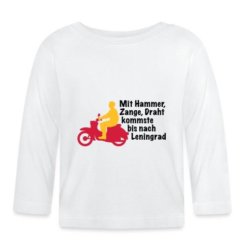 Schwalbe Spruch mit Mann - Baby Langarmshirt