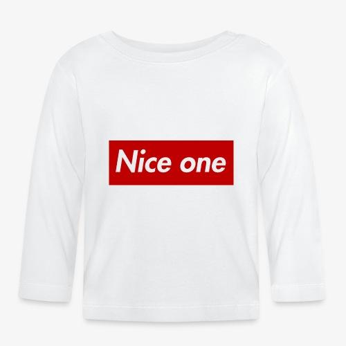 Nice one - Baby Langarmshirt