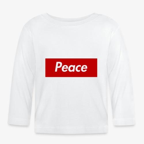 Peace - Baby Langarmshirt