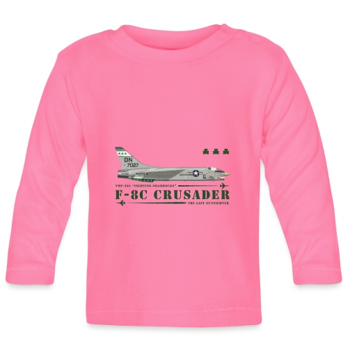 F-8C Crusader VMF-333 - Baby Long Sleeve T-Shirt