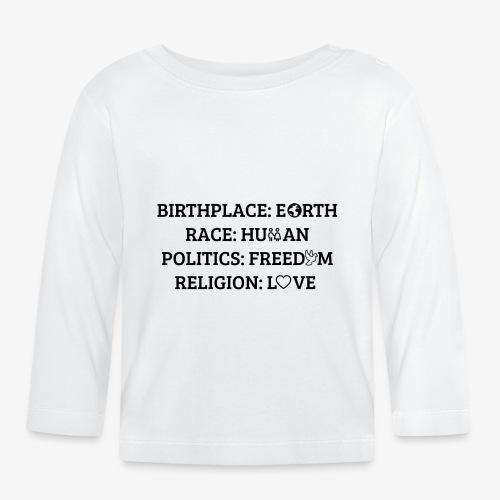 Religion Love - Baby Langarmshirt