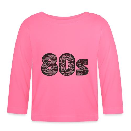 Cloud words 80s black - Baby Long Sleeve T-Shirt