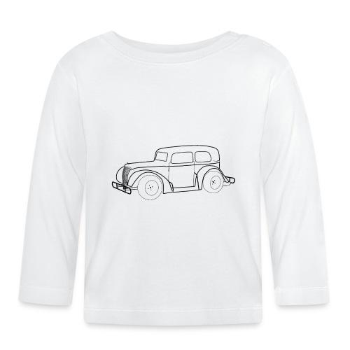 Racing Car schwarz - Baby Langarmshirt