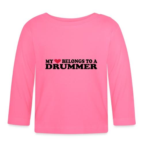 MY HEART BELONGS TO A DRUMMER - Langarmet baby-T-skjorte