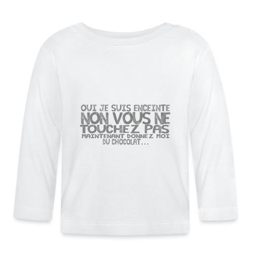 Tshirt-Femme-Enceinte-Chocolat-1 - T-shirt manches longues Bébé