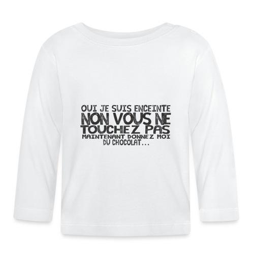 T-Shirt-Femme-Enceinte-Chocolat - T-shirt manches longues Bébé