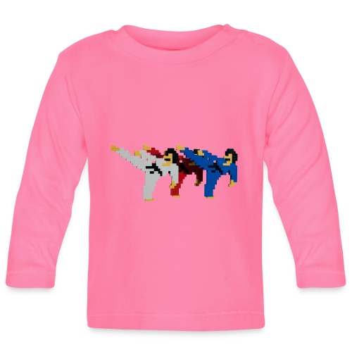 8 bit trip ninjas 2 - Baby Long Sleeve T-Shirt