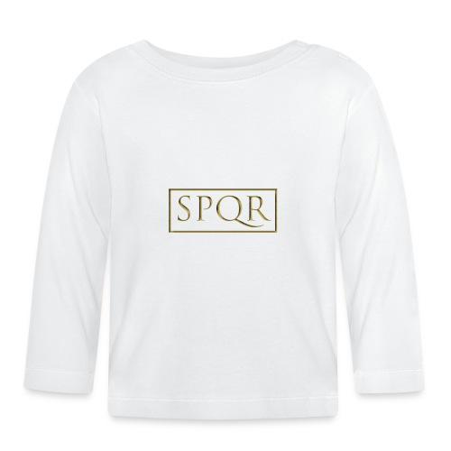 SPQR kolor (color) - Koszulka niemowlęca z długim rękawem