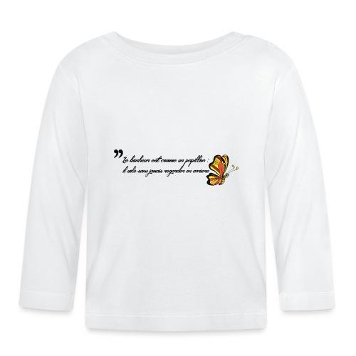 Papillon de bonheur - T-shirt manches longues Bébé