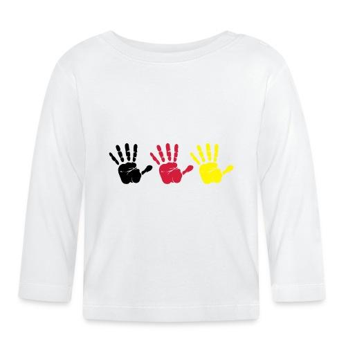 Handabdruck Trio - Baby Langarmshirt