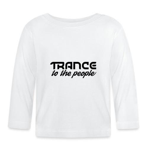 Trance to the People Sort Logo - Langærmet babyshirt