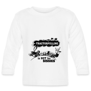 tractorpulling is not for sissies zwart wit - T-shirt
